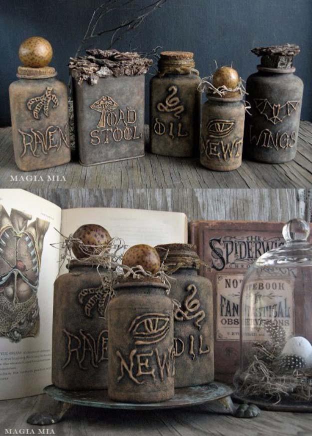 Glue Gun Crafts DIY | Best Hot Glue Gun Crafts, DIY Projects and Arts and Crafts Ideas Using Glue Gun Sticks | Glue Gun and Chalk Paint Witchcraft Bottles Art #diy #crafts #gluegun