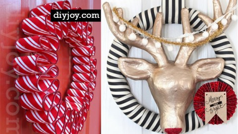 26 DIY Holiday Wreaths To Make For Christmas Decor | DIY Joy Projects and Crafts Ideas