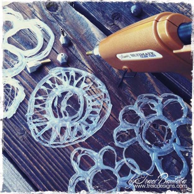 handmade glue stencils 38 unbelievably cool things you can make with a glue gun 1046
