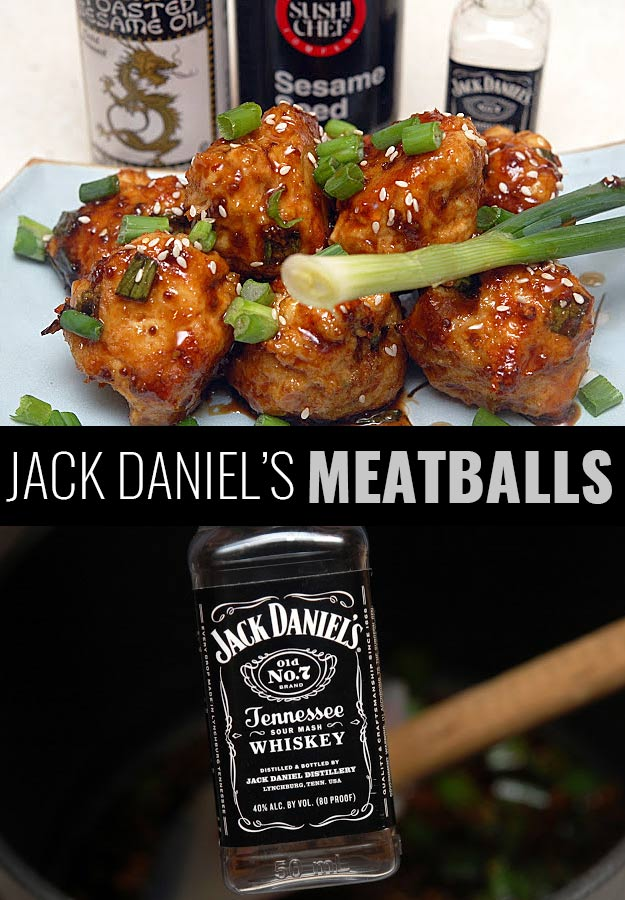 Fun DIY Ideas Made With Jack Daniels - Recipes, Projects and Crafts With The Bottle, Everything From Lamps and Decorations to Fudge and Cupcakes | Jack Daniels Meatballs | http://diyjoy.com/diy-projects-jack-daniels