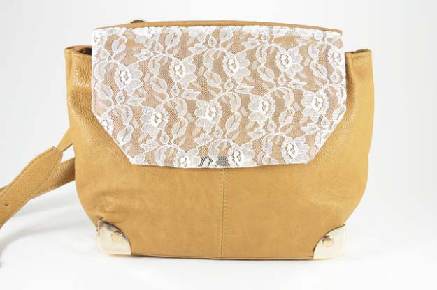 DIY Crafts You Can Make with Lace | Cool DIY Ideas for Fashion, Decor, Gifts, Jewelry and Home Accessories Made With Lace | Lace Panel Purse | http://diyjoy.com/diy-crafts-ideas-with-lace