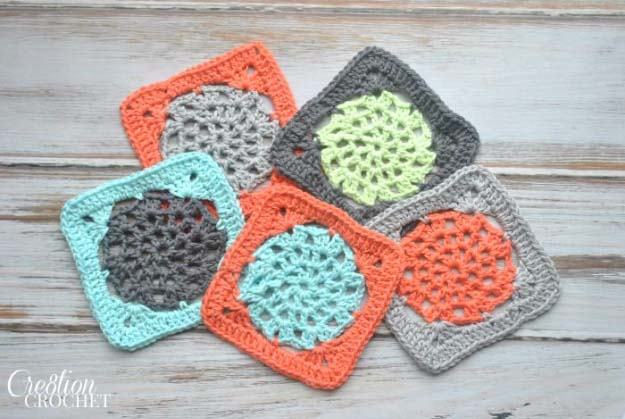 DIY Crafts You Can Make with Lace | Cool DIY Ideas for Fashion, Decor, Gifts, Jewelry and Home Accessories Made With Lace | Lace Square Crochet | http://diyjoy.com/diy-crafts-ideas-with-lace