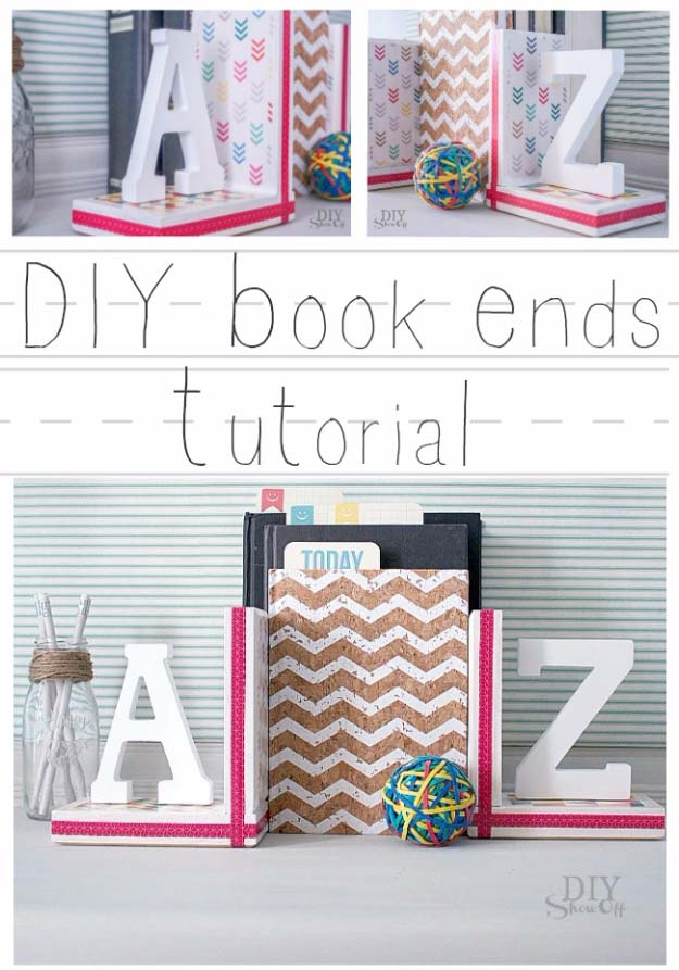 DIY Gifts for Your Girlfriend and Cool Homemade Gift Ideas for Her | Easy Creative DIY Projects and Tutorials for Christmas, Birthday and Anniversary Gifts for Mom, Sister, Aunt, Teacher or Friends |Lovely Homemade Book Ends and Creative Home Decor #diygifts #diyideas