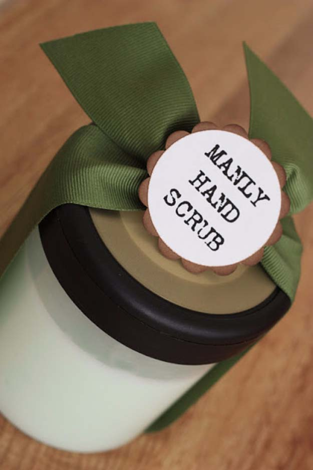 DIY Gifts For Men | Awesome Ideas for Your Boyfriend, Husband, Dad - Father , Brother Cool Homemade DIY Crafts Men Love to Receive for Christmas, Birthdays, Anniversaries and Valentine's Day | Manly Hand Scrub #diygifts #diyideas #crafts