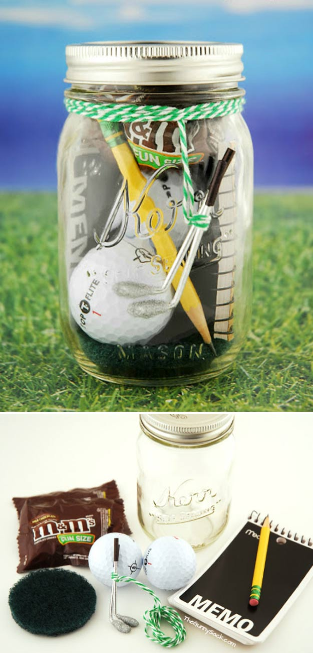 Homemade DIY Gifts in A Jar | DIY Gift ideas for Men, Guys, Brother, Dad, Boyfriend | Fun Gift Ideas for Him at Christmas, Holiday, Birthday | Cheap and Easy Last Minute Gifts | Mini Golf Date in a Jar Gift #diy