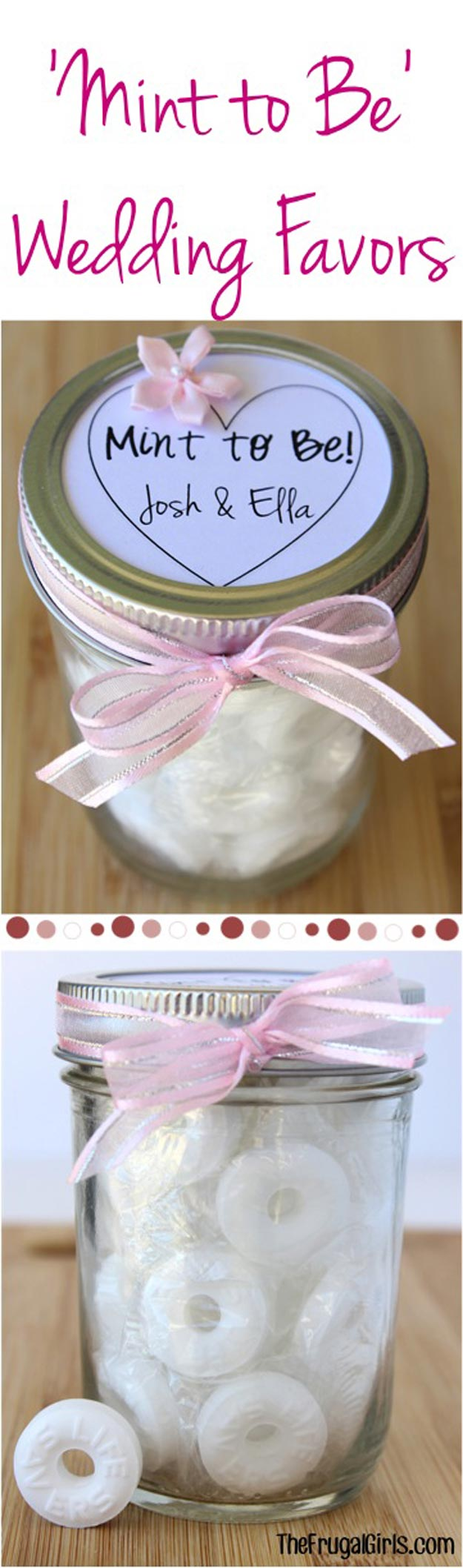 Homemade DIY Gifts in A Jar | Best Mason Jar Cookie Mixes and Recipes, Alcohol Mixers | Fun Gift Ideas for Men, Women, Teens, Kids, Teacher, Mom. Christmas, Holiday, Birthday and Easy Last Minute Gifts | Mint To Be Wedding Favors Gift in a Jar |  http://diyjoy.com/diy-gifts-in-a-jar