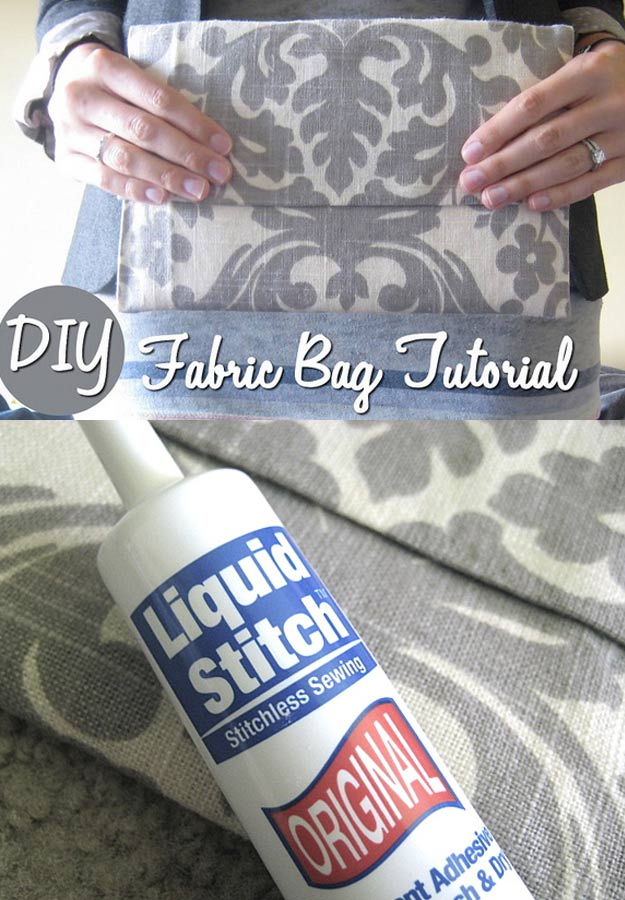 DIY Gifts for Your Girlfriend and Cool Homemade Gift Ideas for Her | Easy Creative DIY Projects and Tutorials for Christmas, Birthday and Anniversary Gifts for Mom, Sister, Aunt, Teacher or Friends |No Sew Fabric Bag and Easy Travel Gift for Her #diygifts #diyideas