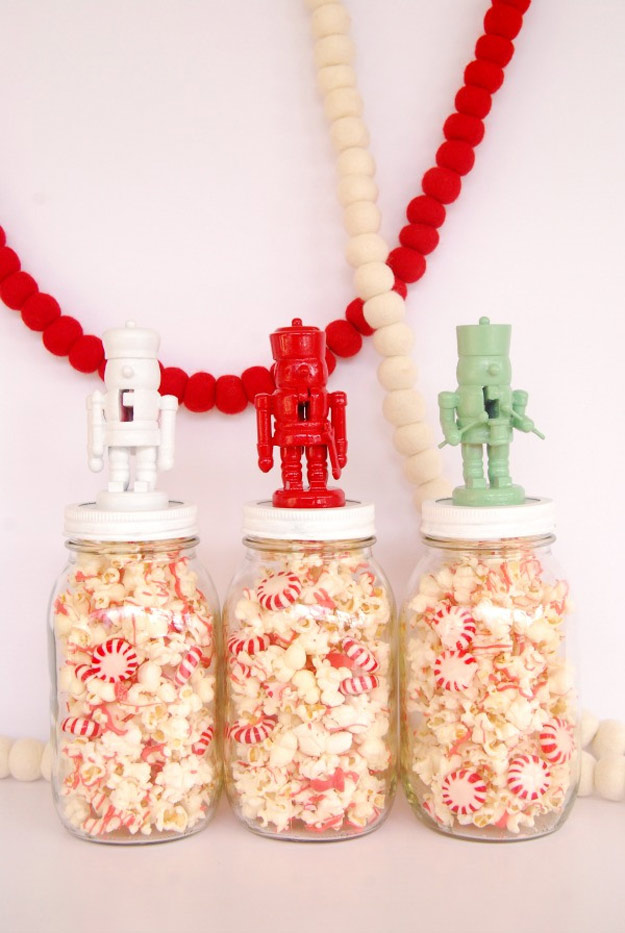 Homemade DIY Gifts in A Jar | Best Mason Jar Cookie Mixes and Recipes, Alcohol Mixers | Fun Gift Ideas for Men, Women, Teens, Kids, Teacher, Mom. Christmas, Holiday, Birthday and Easy Last Minute Gifts | Nutcracker Jar Toppers | http://diyjoy.com/diy-gifts-in-a-jar