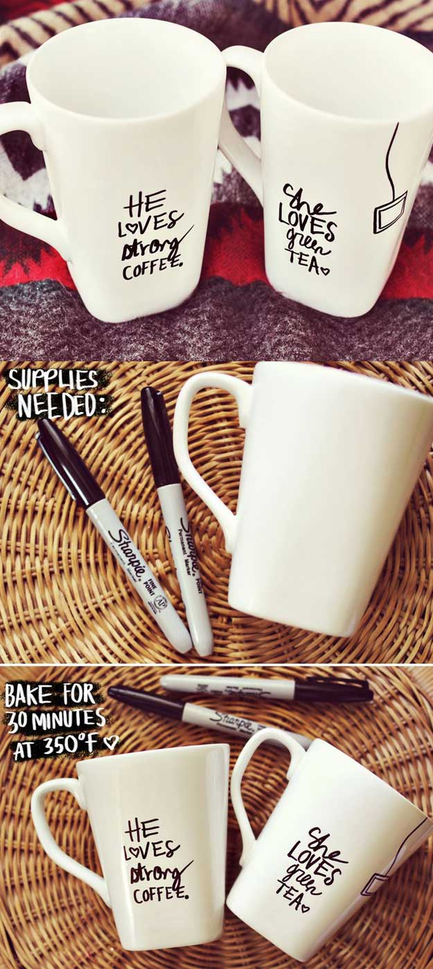 DIY Gifts for Your Parents | Cool and Easy Homemade Gift Ideas That Mom and Dad Will Love | Creative Christmas Gifts for Parents With Step by Step Instructions | Crafts and DIY Projects by DIY JOY | Personalize-Mugs-According-to-their-Taste #diy #diygifts #christmasgifts