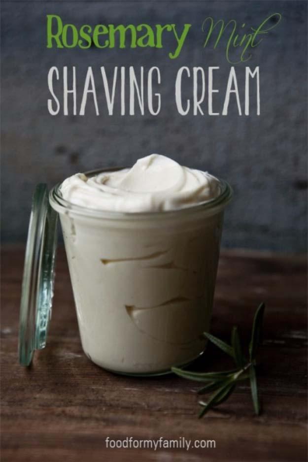 DIY Gifts For Men | Awesome Ideas for Your Boyfriend, Husband, Dad - Father , Brother and all the other important guys in your life. Cool Homemade DIY Crafts Men Will Truly Love to Receive for Christmas, Birthdays, Anniversaries and Valentine's Day | Rosemary Mint Shaving Cream | http://diyjoy.com/diy-gifts-for-men-pinterest