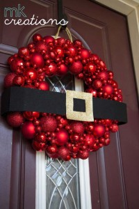 diy holiday wreaths make awesome homemade christmas decorations for your front door cool crafts and - Christmas Ball Wreath