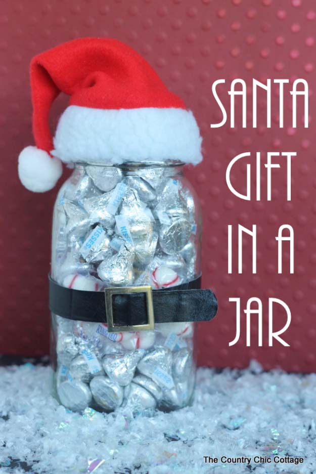 Homemade DIY Gifts in A Jar | Best Mason Jar Cookie Mixes and Recipes, Alcohol Mixers | Fun Gift Ideas for Men, Women, Teens, Kids, Teacher, Mom. Christmas, Holiday, Birthday and Easy Last Minute Gifts | Santa Gift in a Jar #diy