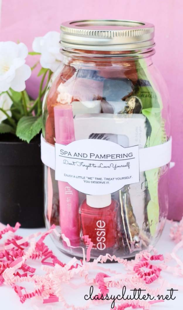 Creative DIY Mothers Day Gifts Ideas - DIY Gifts for Your Girlfriend and Cool Homemade Gift Ideas for Her | Easy Creative DIY Projects and Tutorials for Christmas, Birthday Anniversary and More | Spa And Pampering in a Jar| Cool Crafts and DIY Projects by DIY JOY - Thoughtful Homemade Gifts for Mom. Handmade Ideas from Daughter, Son, Kids, Teens or Baby - Unique, Easy, Cheap Do It Yourself Crafts To Make for Mothers Day, complete with tutorials and instructions #mothersday