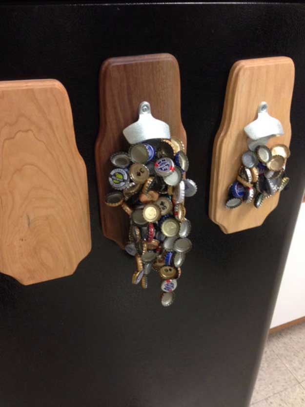 Awesome Crafts for Men and Manly DIY Project Ideas Guys Love - Fun Gifts, Manly Decor, Games and Gear. Tutorials for Creative Projects to Make This Weekend | Strong Magnetic Bottle Opener #diy #craftsformen #guys #giftsformen