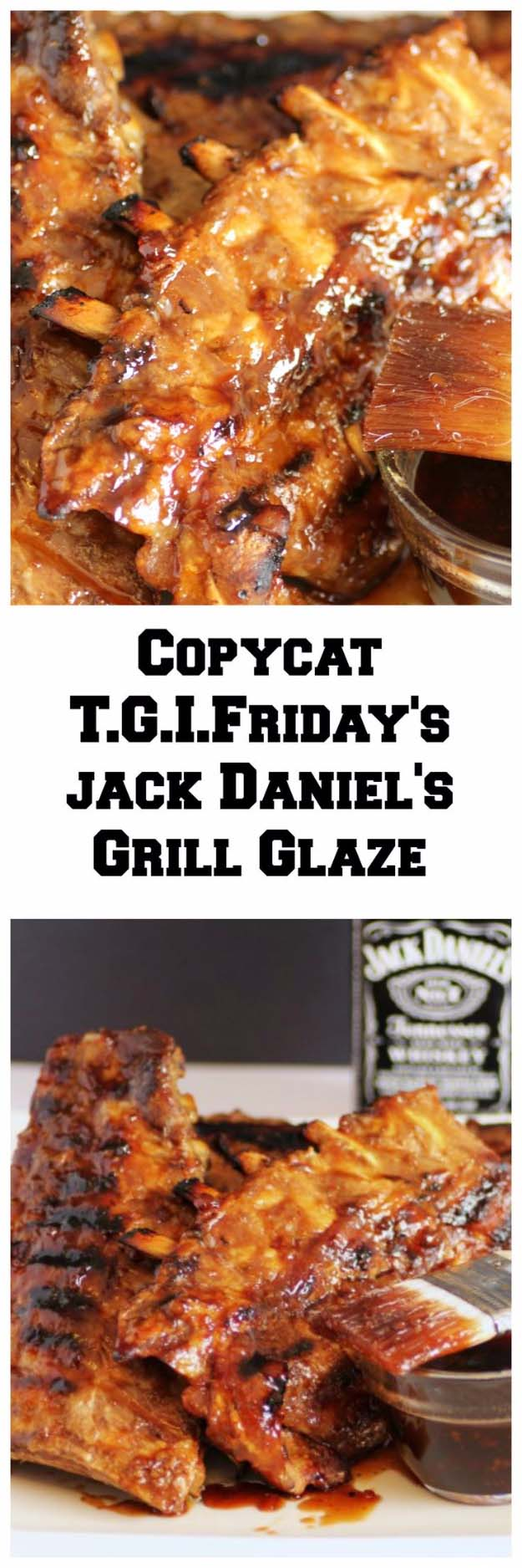 Fun DIY Ideas Made With Jack Daniels - Recipes, Projects and Crafts With The Bottle, Everything From Lamps and Decorations to Fudge and Cupcakes | T.G.I. Fridays Jack Daniels Grill Glaze | http://diyjoy.com/diy-projects-jack-daniels