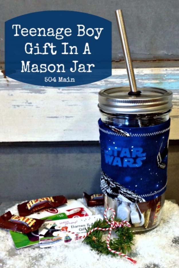 Homemade DIY Gifts in A Jar | Best Mason Jar Cookie Mixes and Recipes, Alcohol Mixers | Fun Gift Ideas for Men, Women, Teens, Kids, Teacher, Mom. Christmas, Holiday, Birthday and Easy Last Minute Gifts | Teenage Boy Gift in a Mason Jar Idea #diy