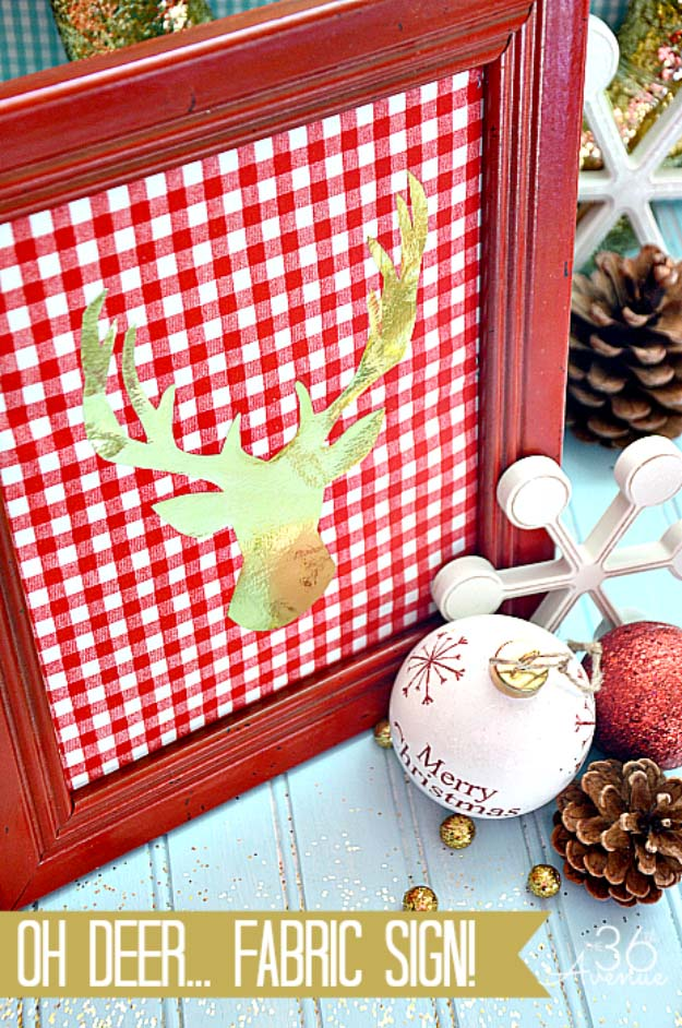 Awesome DIY Christmas Home Decorations and Homemade Holiday Decor Ideas - Quick and Easy Decorating ideas, cool ornaments, home decor crafts and fun Christmas stuff | Crafts and DIY projects by DIY Joy | Warm Christmas Sign #diy #crafts #christmas