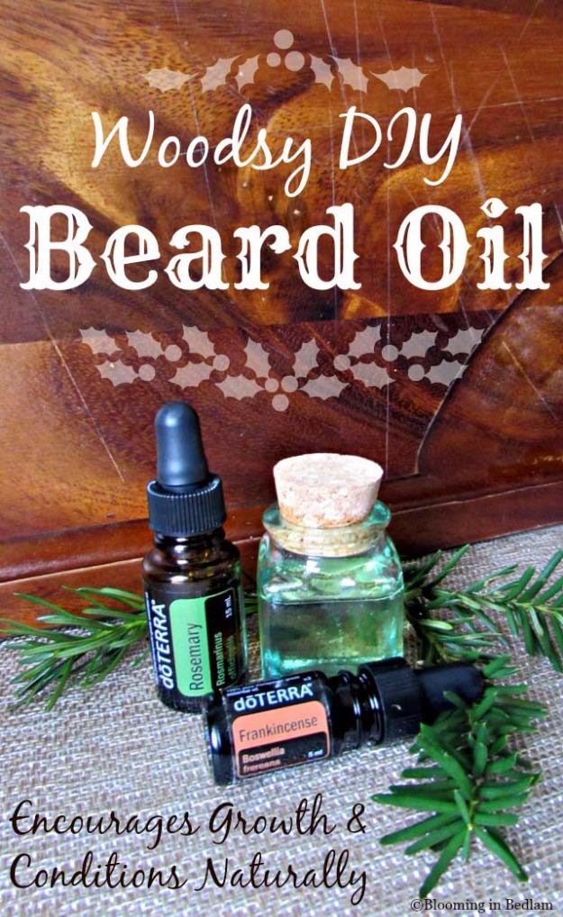 DIY Gifts For Men | Cool Ideas for Your Boyfriend, Husband, Dad , Father , Brother | Cool Homemade DIY Crafts Men Love to Receive for Christmas, Birthdays, Anniversaries and Valentine's Day | Woodsy DIY Beard Oil Stocking Stuffer Idea