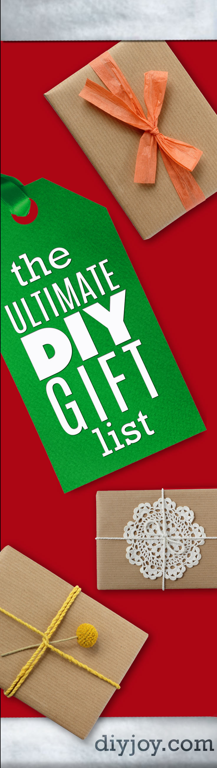 The ultimate diy christmas gifts list best diy gifts list christmas birthday and special occasion gift wrapping ideas solutioingenieria Choice Image