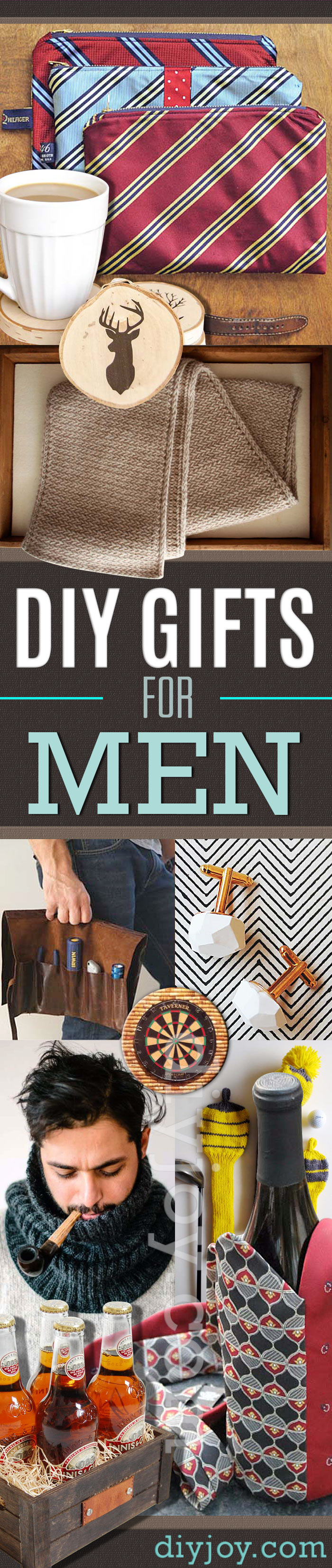 diy gifts for men pinterest ideas - DYI Gift Ideas for Guys - Homemade Christmas Presents for Him - DIY Xmas gifts ideas #diy #diygifts #men