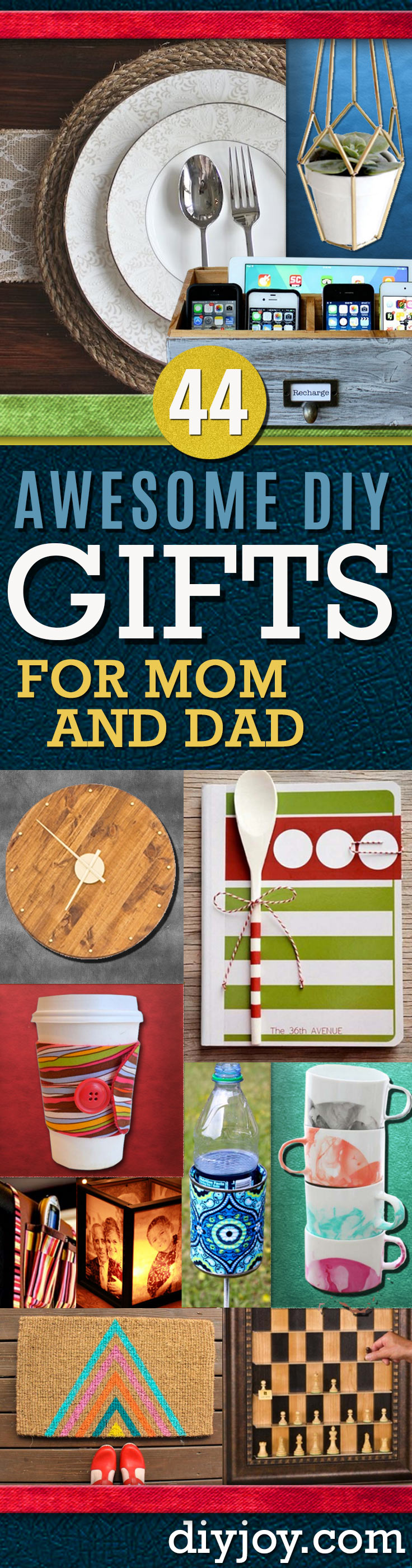 DIY Gifts for Mom and Dad - Homemade Christmas Gift Ideas for Your Parents. Cool