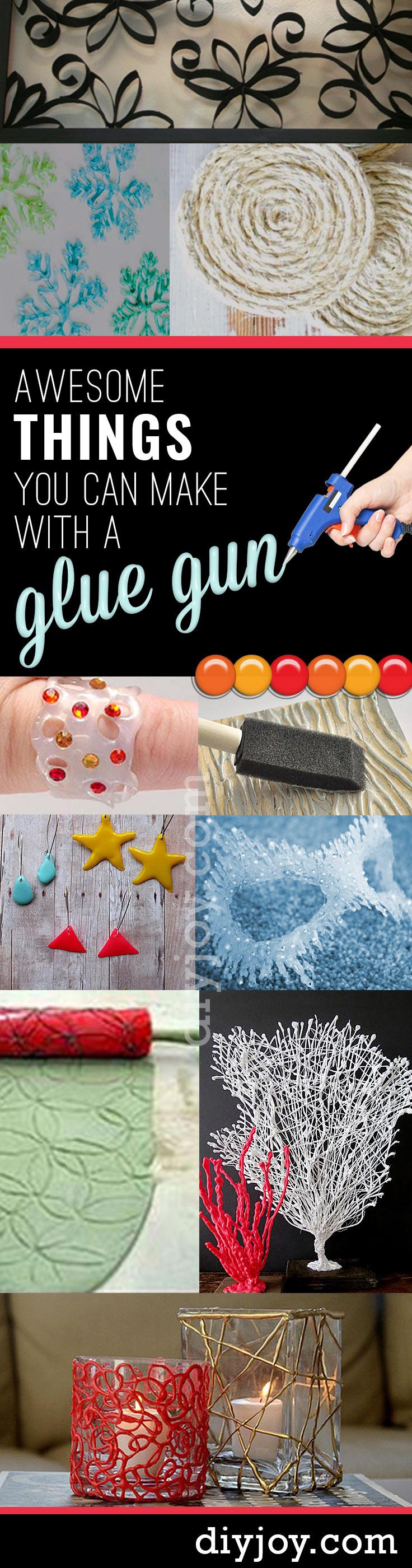 Hot Glue Gun Crafts - Best Hot Glue Gun DIY Crafts, DIY Projects and Arts and Crafts Ideas Using Glue Gun Sticks #diy #crafts #gluegun