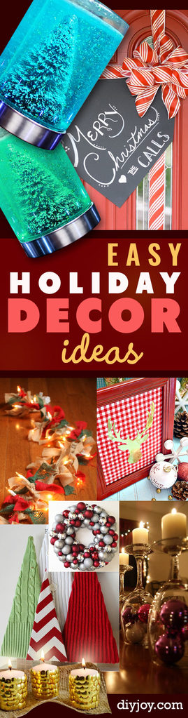 Awesome DIY Christmas Home Decorations and Homemade Holiday Decor Ideas - Quick and Easy Decorating ideas, cool ornaments, home decor crafts and fun Christmas stuff | Crafts and DIY projects by DIY Joy