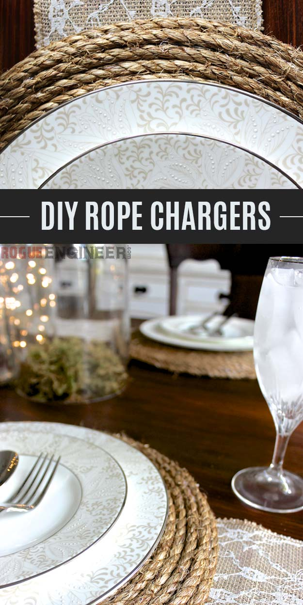 DIY Rope Chargers - Easy Homemade Home Decor and DIY Gift Ideas