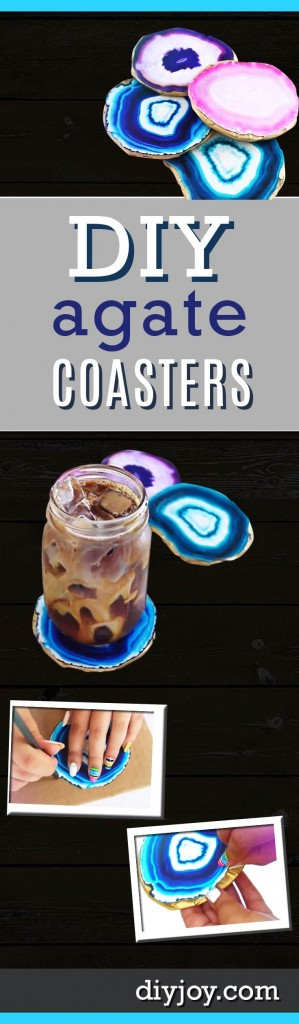 DIY Gifts for Your Parents | Cool and Easy Homemade Gift Ideas That Mom and Dad Will Love | Creative Christmas Gifts for Parents With Step by Step Instructions | Crafts and DIY Projects by DIY JOY | Faux Agate Coasters #diy #diygifts #christmasgifts