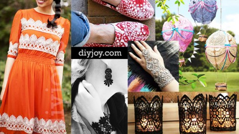 Elegant Crafts You Can Make with Lace | DIY Joy Projects and Crafts Ideas
