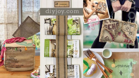 50 Creative DIY Projects Made with Burlap | DIY Joy Projects and Crafts Ideas