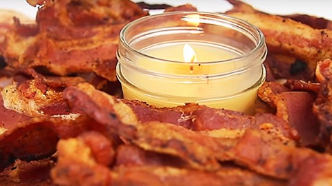 If You Love Bacon, Your Life Is Not Complete Until You Make At Least One Bacon Candle. | DIY Joy Projects and Crafts Ideas
