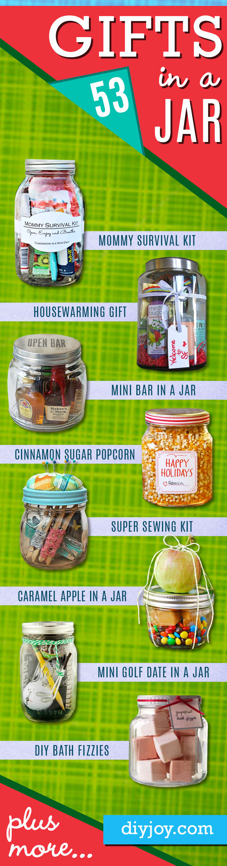 Homemade DIY Gifts in A Jar | Best Mason Jar Cookie Mixes and Recipes, Alcohol Mixers | Fun Gift Ideas for Men, Women, Teens, Kids, Teacher, Mom. Christmas, Holiday, Birthday and Easy Last Minute Gifts #gifts #diygifts #masonjar #giftideas
