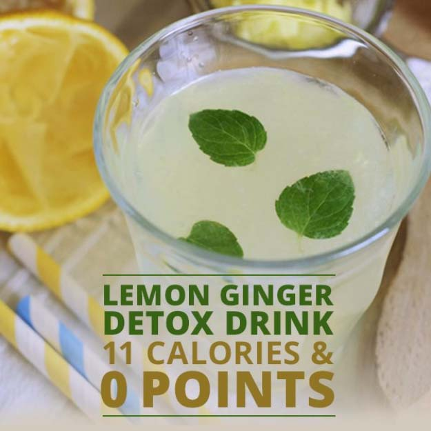 31 Detox Water Recipes for Drinks To Cleanse Skin and Body. Easy to Make Waters and Tea Promote Health, Diet and Support Weightloss | Lemon Ginger Detox Drink #detox #recipes #detoxwater #healthy
