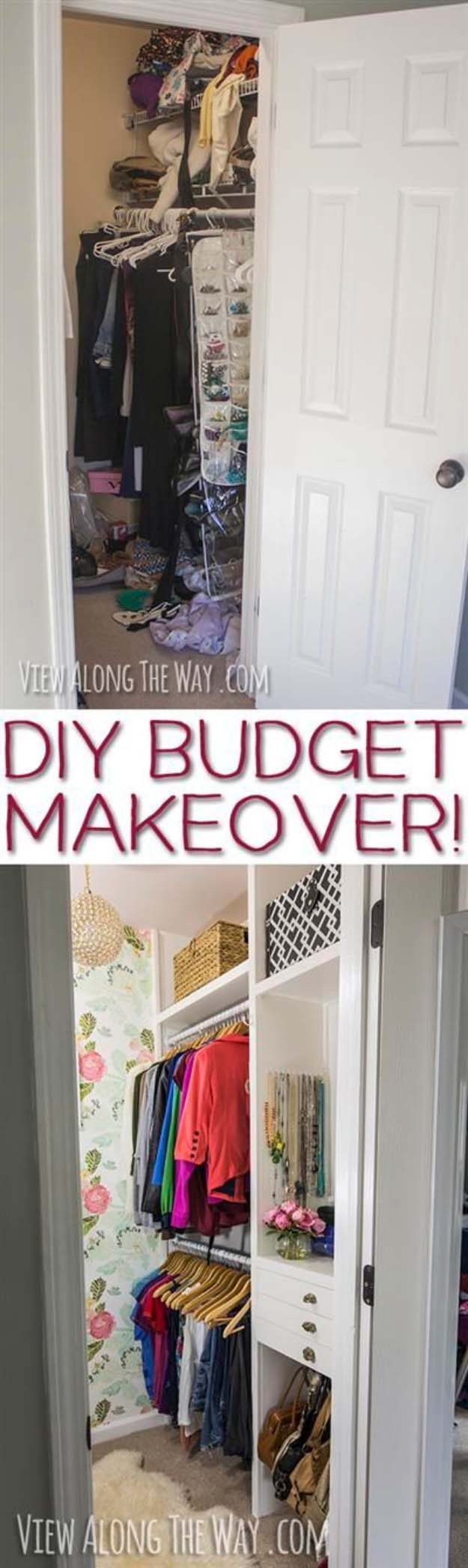 DIY Closet Organization Ideas for Messy Closets and Small Spaces. Organizing Hacks and Homemade Shelving And Storage Tips for Garage, Pantry, Bedroom., Clothes and Kitchen | Girly-Glam Closet Makeover REVEAL #organizing #closets #organizingideas
