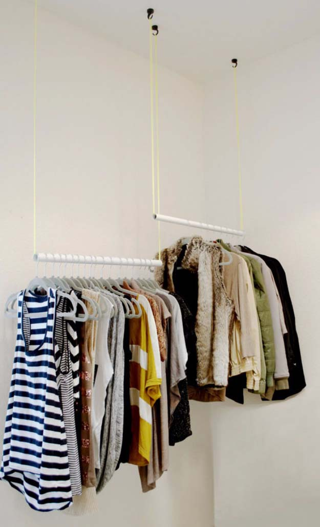 DIY Closet Organization Ideas for Messy Closets and Small Spaces. Organizing Hacks and Homemade Shelving And Storage Tips for Garage, Pantry, Bedroom., Clothes and Kitchen | DIY From Wiry Slobs to Sleek Hanging Rods #organizing #closets #organizingideas