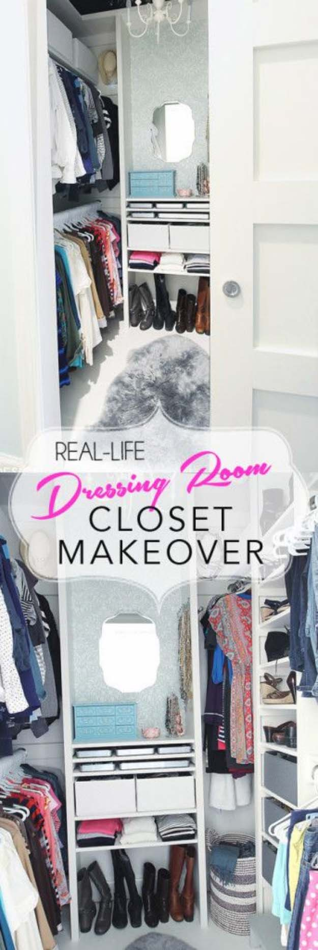 DIY Closet Organization Ideas for Messy Closets and Small Spaces. Organizing Hacks and Homemade Shelving And Storage Tips for Garage, Pantry, Bedroom., Clothes and Kitchen | From Cluttered Mess to Mini-Dressing Room, A DIY Closet Makeover #organizing #closets #organizingideas