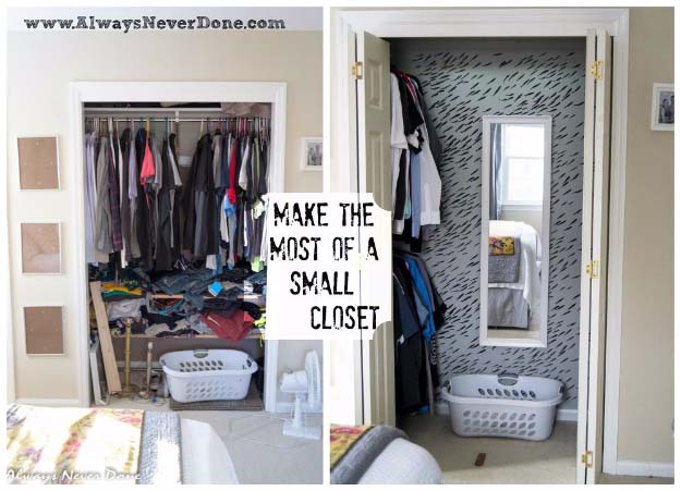 Diy Closet Organization Ideas For Messy Closets And Small Es Organizing Hacks Homemade Shelving