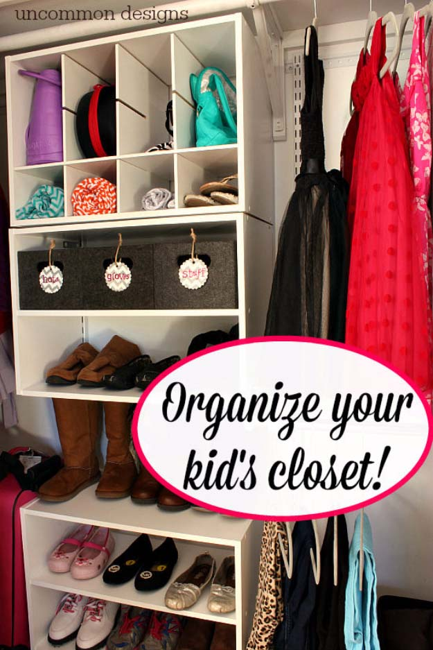 DIY Closet Organization Ideas for Messy Closets and Small Spaces. Organizing Hacks and Homemade Shelving And Storage Tips for Garage, Pantry, Bedroom., Clothes and Kitchen | Operation Closet Organization #organizing #closets #organizingideas