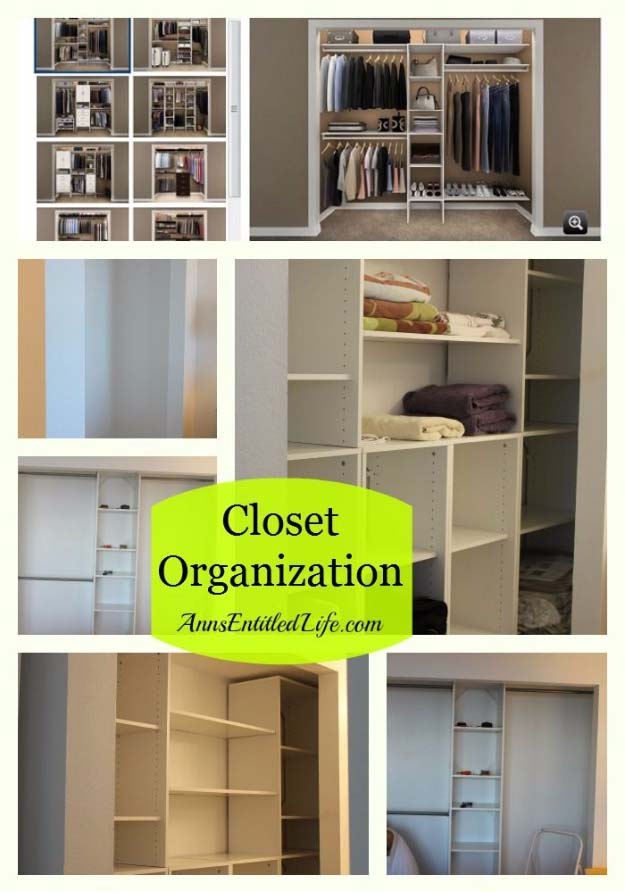 DIY Closet Organization Ideas for Messy Closets and Small Spaces. Organizing Hacks and Homemade Shelving And Storage Tips for Garage, Pantry, Bedroom., Clothes and Kitchen | Closet Organization #organizing #closets #organizingideas