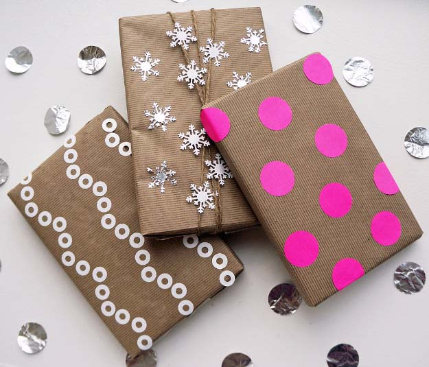 DIY Gift Wrapping Ideas - How To Wrap A Present - Tutorials, Cool Ideas and Instructions | Cute Gift Wrap Ideas for Christmas, Birthdays and Holidays | Tips for Bows and Creative Wrapping Papers | 3 Beautiful Ways to Gift Wrap With Kraft Paper #gifts #diys