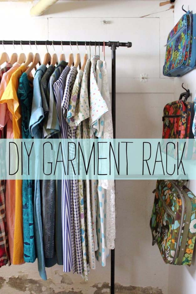 DIY Closet Organization Ideas for Messy Closets and Small Spaces. Organizing Hacks and Homemade Shelving And Storage Tips for Garage, Pantry, Bedroom., Clothes and Kitchen | Garment Rack DIY #organizing #closets #organizingideas