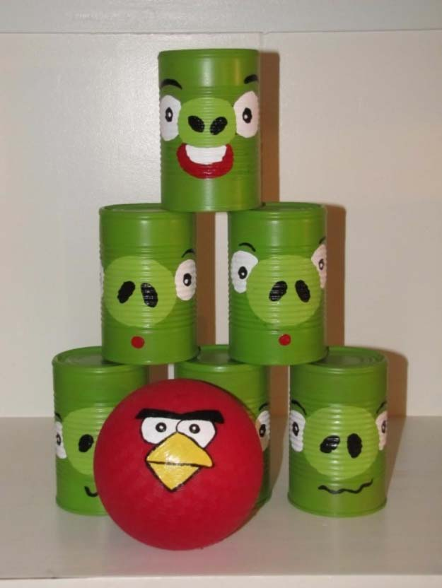 DIY Christmas Gifts for Kids - Homemade Christmas Presents for Children and Christmas Crafts for Kids   Toys, Dress Up Clothes, Dolls and Fun Games   Step by Step tutorials and instructions for cool gifts to make for boys and girls   Angry Birds Bowling Game