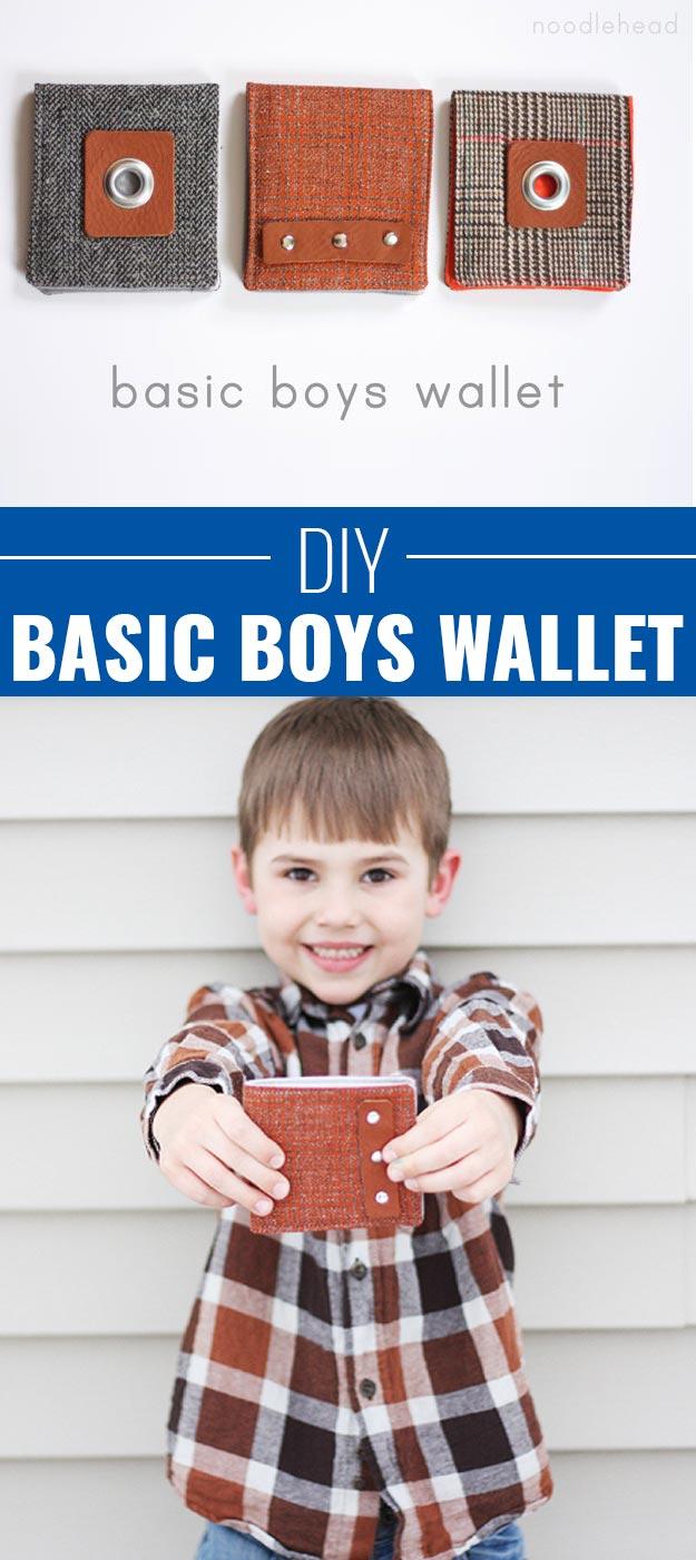 Fun Homemade Gifts for Friends   Cute DIY Stocking Stuffers for Christmas   Easy DIY Crafts Ideas   Basic DIY Wallet for Boys http://diyjoy.com/cute-diy-stocking-stuffer-ideas