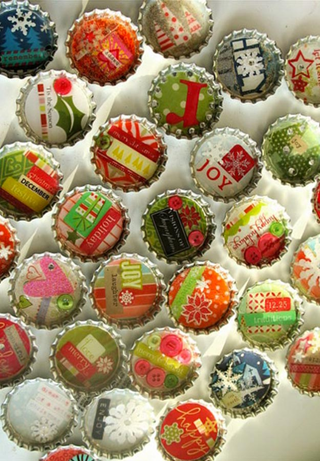 Fun Homemade Gifts for Friends | Cute DIY Stocking Stuffers for Christmas | Easy DIY Crafts Ideas | Bottle Cap Art #diy #diychristmas