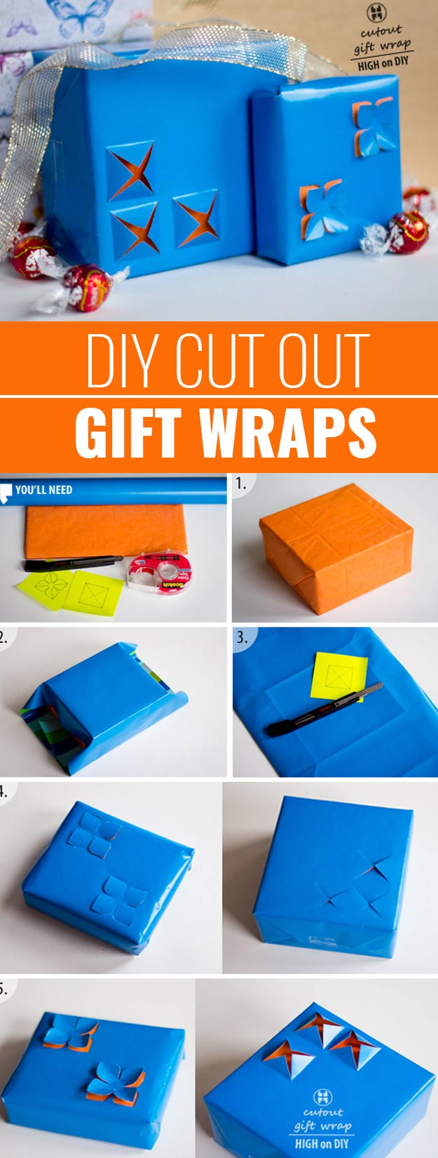 DIY Gift Wrapping Ideas - How To Wrap A Present - Tutorials, Cool Ideas and Instructions | Cute Gift Wrap Ideas for Christmas, Birthdays and Holidays | Tips for Bows and Creative Wrapping Papers | Cut-Out-Gift-Wraps #gifts #diys
