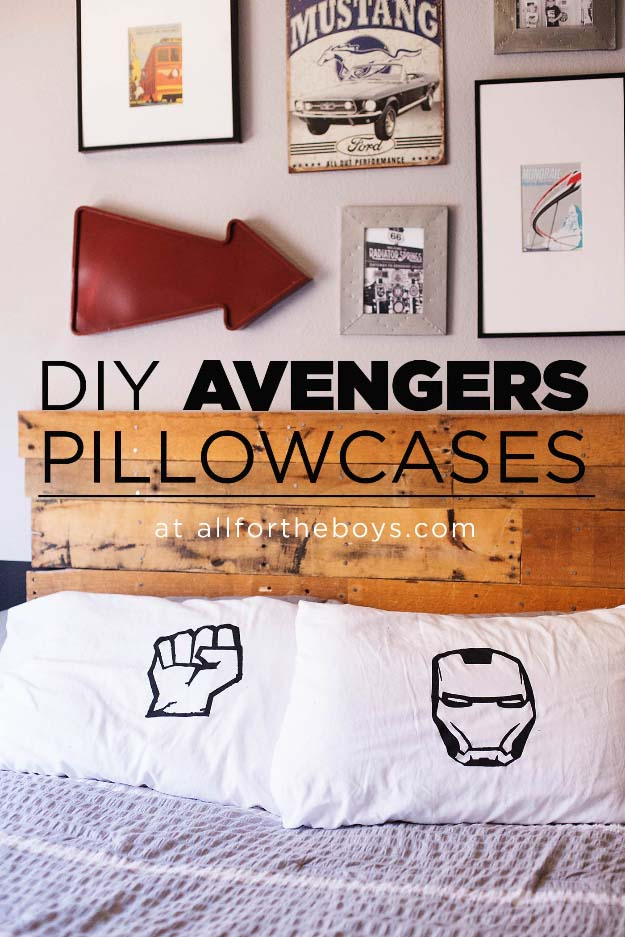 DIY Christmas Gifts for Kids - Homemade Christmas Presents for Children and Christmas Crafts for Kids   Toys, Dress Up Clothes, Dolls and Fun Games   Step by Step tutorials and instructions for cool gifts to make for boys and girls   DIY Avengers Pillow Cases