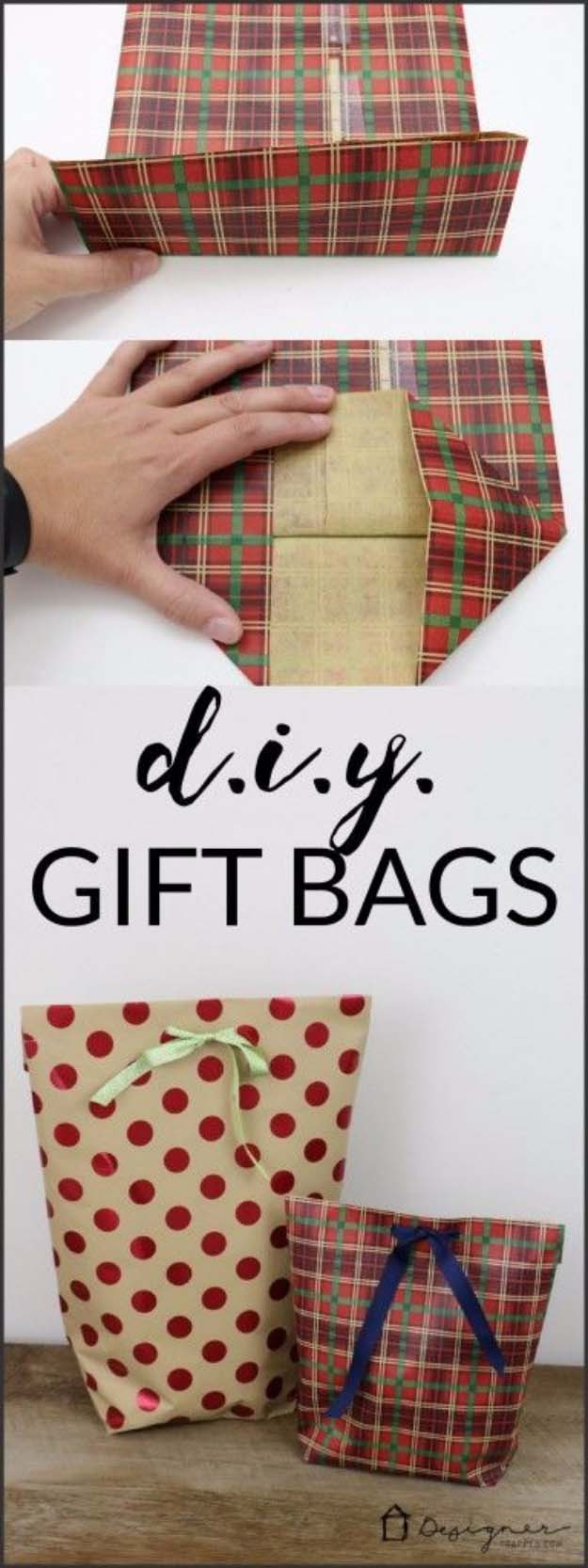 DIY Gift Wrapping Ideas - How To Wrap A Present - Tutorials, Cool Ideas and Instructions | Cute Gift Wrap Ideas for Christmas, Birthdays and Holidays | Tips for Bows and Creative Wrapping Papers | DIY Christmas Gift Bag #gifts #diys
