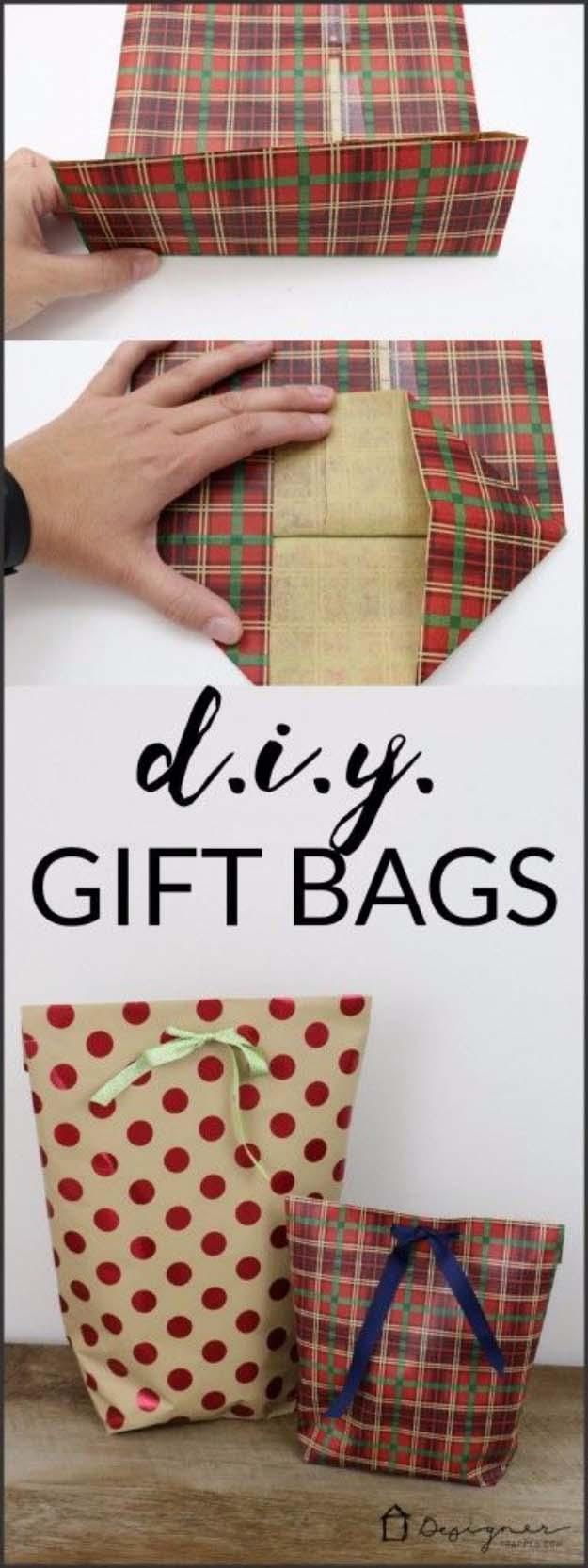 Craftaholics Anonymous® | Festive Christmas Gift Bag with ... |White Christmas Diy Gift Bags