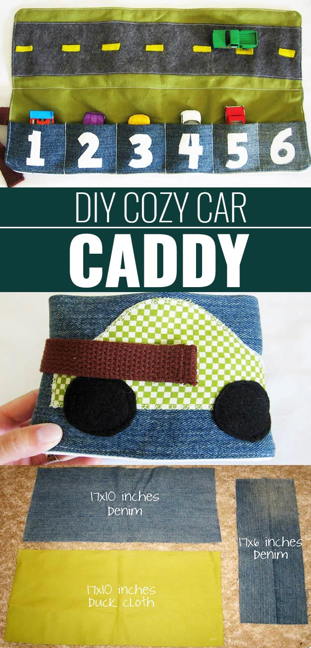 DIY Christmas Gifts for Kids - Homemade Christmas Presents for Children and Christmas Crafts for Kids   Toys, Dress Up Clothes, Dolls and Fun Games   Step by Step tutorials and instructions for cool gifts to make for boys and girls   DIY-Cozy-Car-Caddy